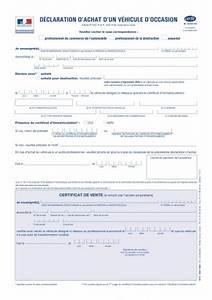 Déclaration D Achat De Véhicule : cerfa d claration d 39 achat d 39 un v hicule d 39 occasion ~ Maxctalentgroup.com Avis de Voitures
