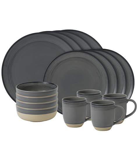 dinnerware ellen degeneres grey doulton royal piece charcoal brushed glaze ed stoneware sets crafted collection service pieces lines johnlewis dining