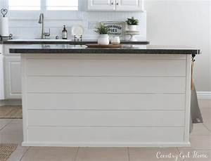 COUNTRY GIRL HOME : kitchen Island Planking and Paint Makeover