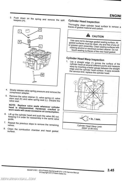 Polaris Sportsman Efi Ute Service Manual