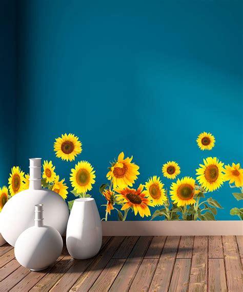 sunflowers decal roll sunflower decor sunflower