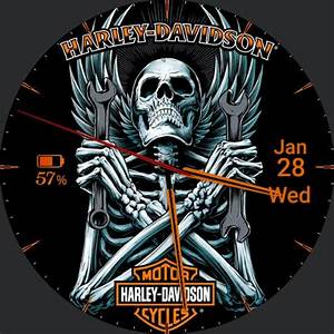 Harley Davidson Skull Wings  U2013 Watchfaces For Smart Watches