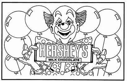 Coloring Chocolate Pages Hershey Bar Milton Printable