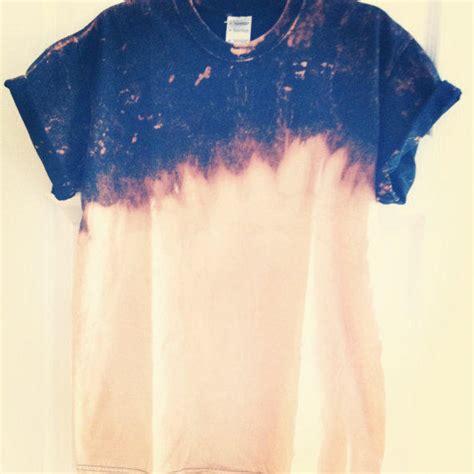 Medium Bleach Dip Dye Black T Shirt From