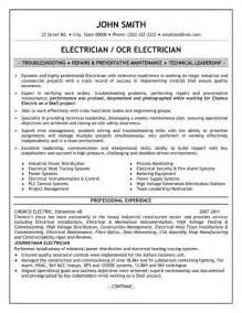 electrician resume template premium resume sles exle