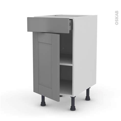 meuble bas cuisine gris meuble de cuisine bas filipen gris 1 porte 1 tiroir l40 x