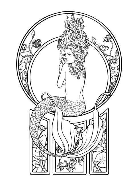 Tattoo idea | Murals in 2019 | Mermaid coloring pages, Mermaid coloring, Coloring pages