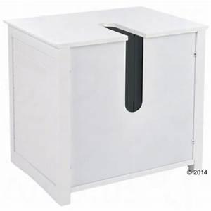 Lavabo Pour Toilette : meuble sous lavabo maison de toilette pour chat zooplus ~ Edinachiropracticcenter.com Idées de Décoration