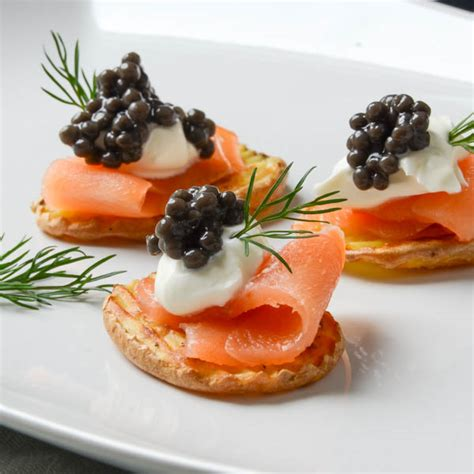 best canapes smoked salmon canapés