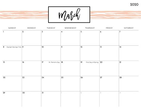 printable march  calendar excel  sheets newsmily