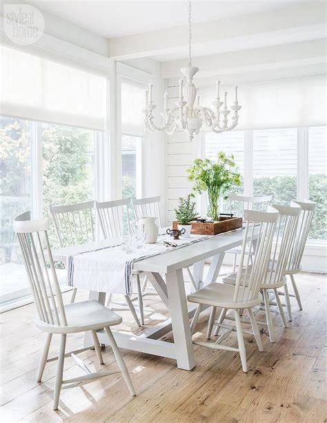 white trestle dining table  white windsor dining