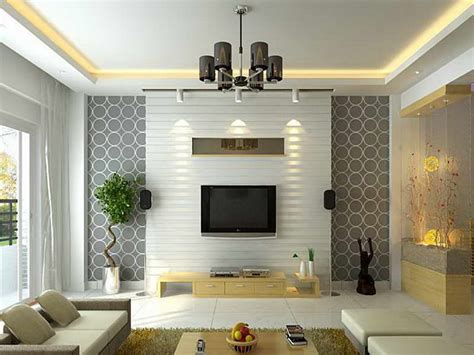 Contemporary Living Room Wallpaper by Bloombety Contemporary Living Room Ideas With