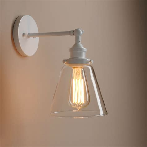 industrial vintage wall light edison sconce clear glass