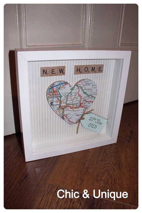 home design gifts new home gift decoupaged map in box fram with