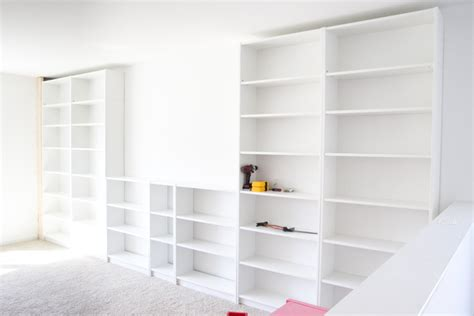 how to build built in cabinets diy built ins from ikea bookcases orc week 2 bless 39 er