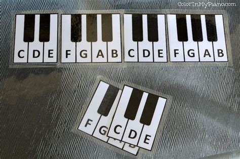 beginner printable black key group flashcards piano