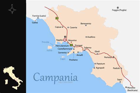 campania map  travel guide