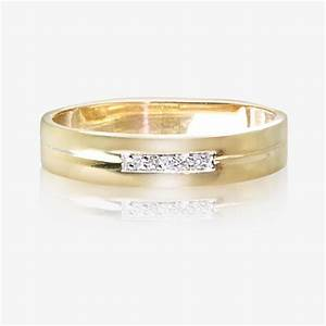 9ct gold diamond ladies wedding ring 4mm for Ladies wedding ring