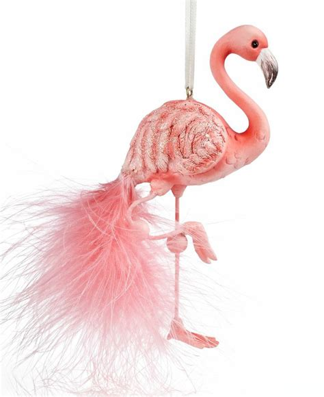 kurt adler christmas ornament flamingo holiday lane