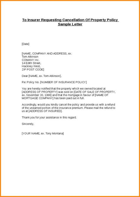 cancellation letter format memo templates