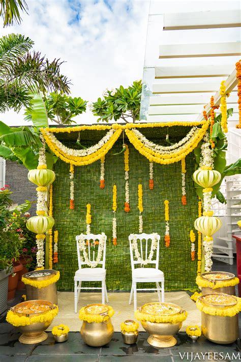 green leaf based decor  abstract pillaiyar  white