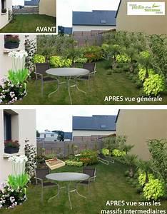 jardin en longueur monjardin materrassecom With amenagement jardin en longueur