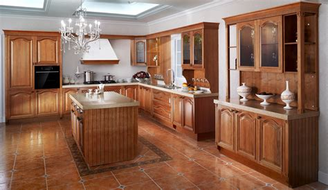 high quality solid wood walnut kitchen cabinets  design