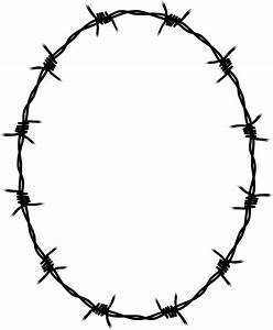 Circle Clipart Barbed Wire  Circle Barbed Wire Transparent