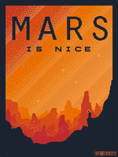 Travel Space Tourism Mars Poster Sp8cebit Posters