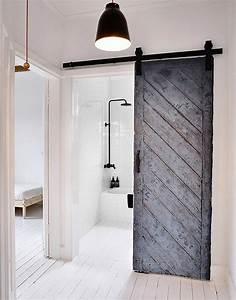 Porte Interieur Grise : porte coulissante design cr ant des ambiances d int rieur ~ Mglfilm.com Idées de Décoration