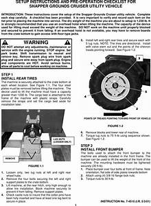 Snapper Grounds Cruiser Utility Vehicle Users Manual 7 4510d