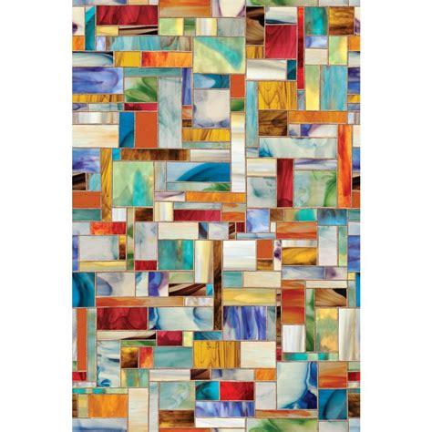 artscape 24 in x 36 in montage decorative window film 01