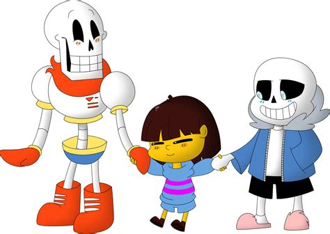 Papyrus, Sans, And Frisk By Frozen--star On