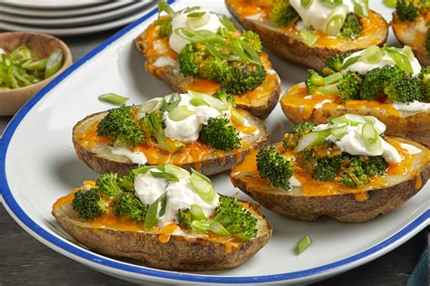 Broccoli Cheese Potato Skins Recipe Kraft Canada