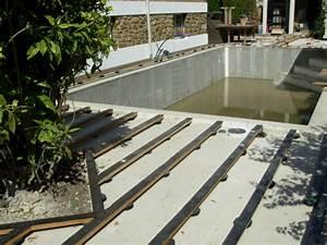 Pose Terrasse Composite Sur Dalle Beton : terrasse en teck autour d 39 une piscine ~ Carolinahurricanesstore.com Idées de Décoration
