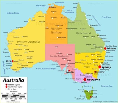 France is a european nation whose territory also includes a number of overseas regions such as french guiana. Australia Map - 2020