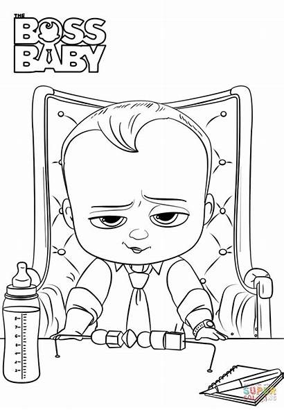 Boss Coloring Pages Printable Games Drawing Bossbaby