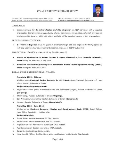 Senior Electrical Engineer Resume by Electrical Engineer Resume Template Business