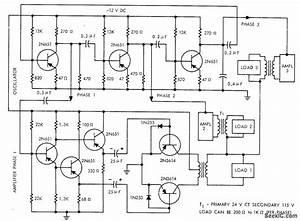12 Vdc To 115 Vac At 400 Hz - Basic Circuit