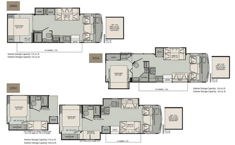 Fleetwood Class C Rv Floor Plans by Fleetwood Class A Motorhome Floorplans Large Picture