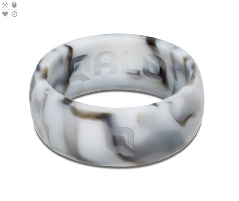 marble wedding ring men s white marble silicone ring bling in 2019 rings