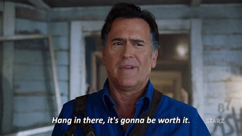 Bruce Cbell Memes - hold please bruce cbell gif by ash vs evil dead find share on giphy