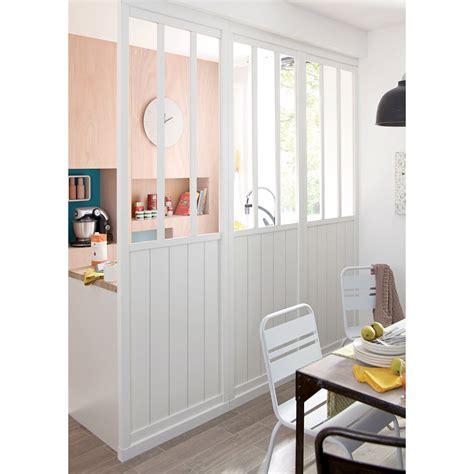 fabriquer une table haute de cuisine cloison amovible atelier blanc h 240 x l 80 cm leroy merlin
