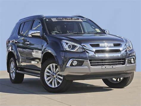 toyota fortuner rival  isuzu   facelift  launch