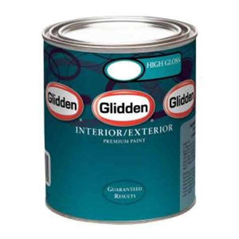 glidden premium 1 qt high gloss interior and exterior