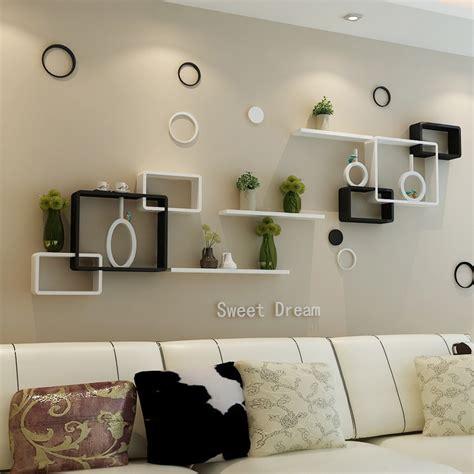 wall cabinets for living room tv background wall shelving cross creative lattice shelf