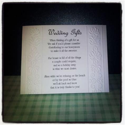 money wedding registry best 25 wedding gift poem ideas on honeymoon