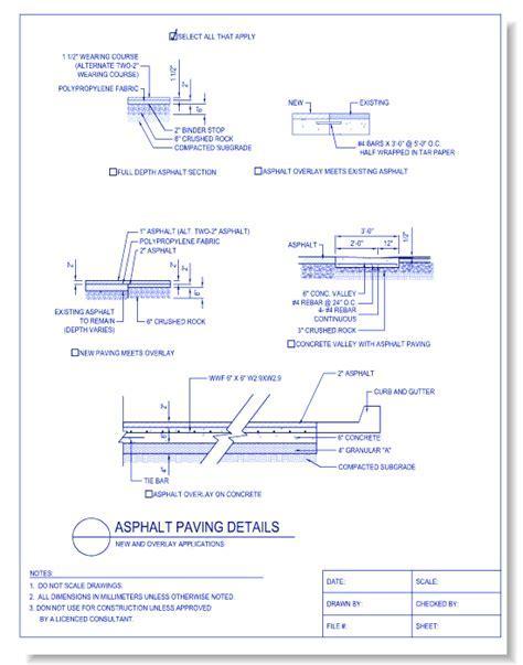 Paving & Surfacing   CADdetails.com   CADdetails