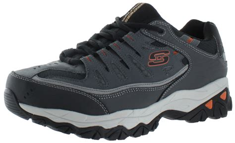 Skechers Sport Men's Afterburn Sneakers Shoes 4e Extra