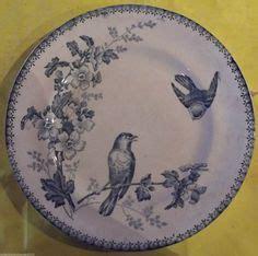 assiette terre de fer coqs porcelaine opaque de gien poule poussin piatti plats assiettes